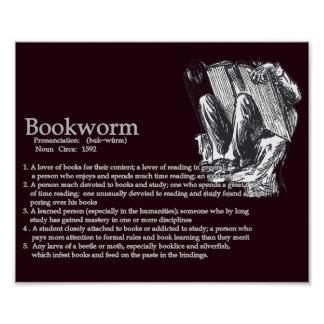 Definition of a Bookworm Poster
