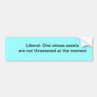 Definition of a liberal bumper sticker