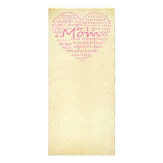 Definition Of A Mother-Heart Outline by STaylor Personalised Rack Card