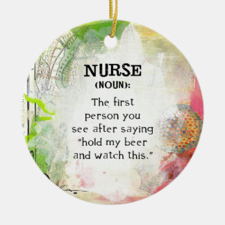 Definition of a Nurse Christmas Ornament