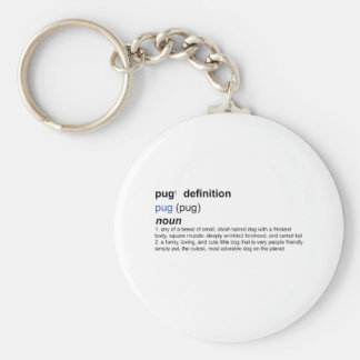 Definition of a Pug Key Chains
