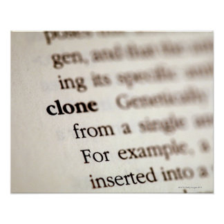 Definition of clone poster