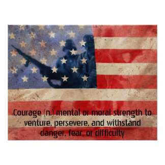 Definition of Courage Army Men Poster