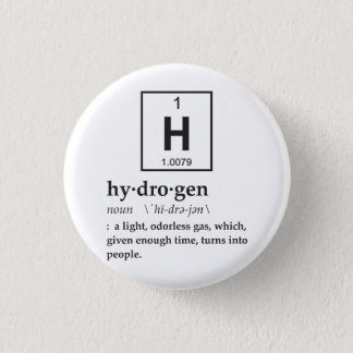 Definition of Hydrogen 3 Cm Round Badge