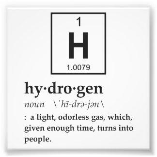 Definition of Hydrogen Photo Print