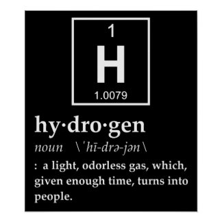 Definition of Hydrogen Poster