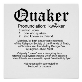 Definition of Quaker Poster