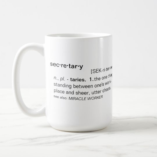 Definition of Secretary Funny Mug