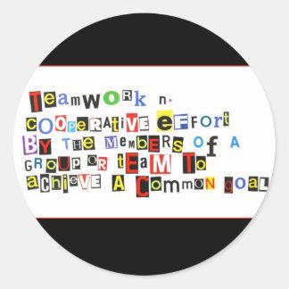 Definition of Teamwork Classic Round Sticker