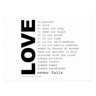 Definitions of Love Post Card