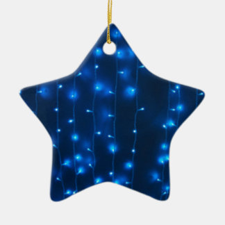 Defocused and blur image of garland of blue LED li Ceramic Star Decoration