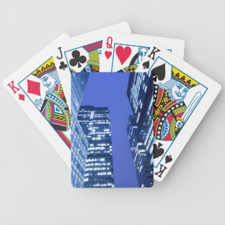 Defocused upward view of office building windows bicycle playing cards