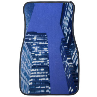 Defocused upward view of office building windows car mat