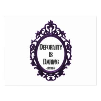 Deformity is Daring Postcard