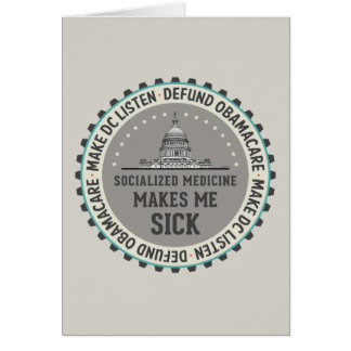 Defund Obamacare Greeting Card