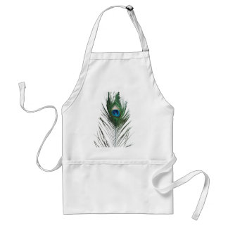 Defused Peacock Feather Standard Apron