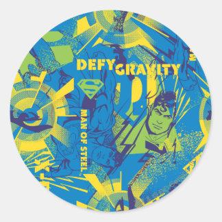 Defy Gravity - Blue Round Sticker