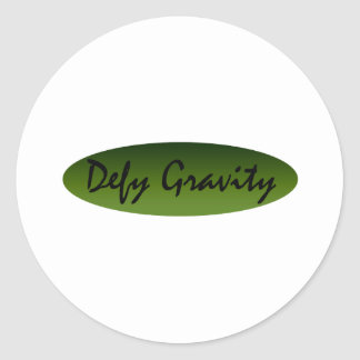 Defy Gravity Classic Round Sticker