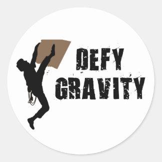Defy Gravity Round Sticker