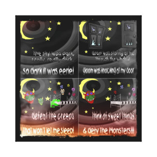 Defy The Monsters Canvas Print