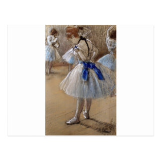 degas ballerina art postcard