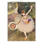 Degas Ballerina with Bouquet of Flowers Greeting Card