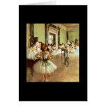 Degas - Ballet Dance Class Greeting Cards