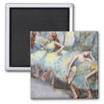 Degas Ballet Dancers Impressionist Square Magnet