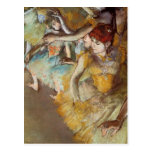 Degas Ballet Dancers on the Stage Postcard