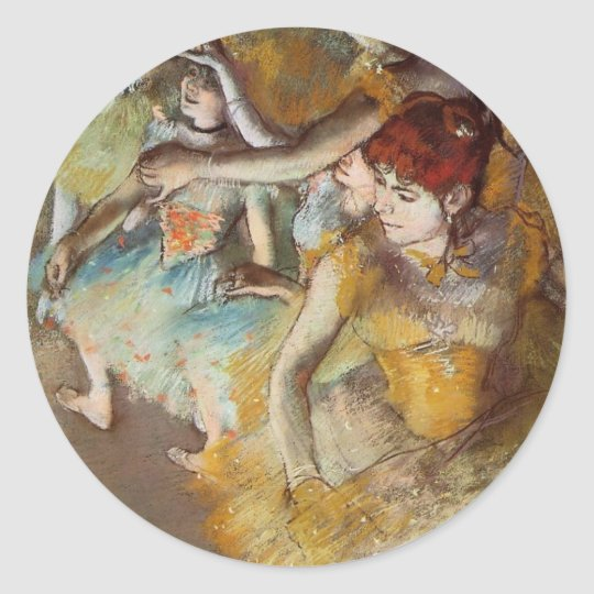 Degas Ballet Dancers on the Stage Sticker