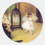 Degas Ballet Dancers Round Stickers