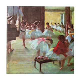Degas - Ballet School Small Square Tile
