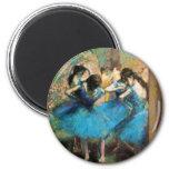 Degas Blue Dancers 6 Cm Round Magnet