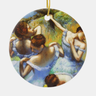 Degas Blue Dancers Christmas Ornament