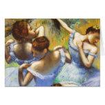 Degas Blue Dancers Greeting Card