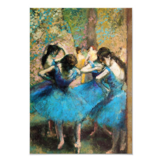 Degas Blue Dancers Invitations