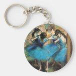 Degas Blue Dancers Key Chain