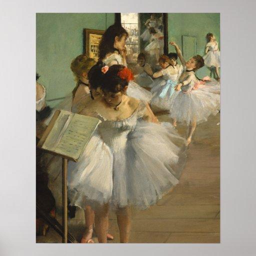Degas Dance Class Ballet Dancers Poster