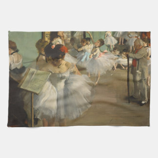 Degas Dance Class Ballet Dancers Tea Towel