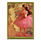 Degas - Dancer in Pink Dress-1880 Poster