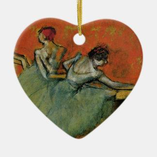 Degas, Dancers at the Barre Heart Ornament