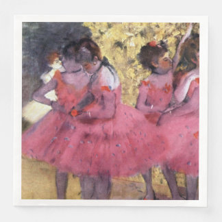 Degas Dancers in Pink Between Scenes Disposable Napkin