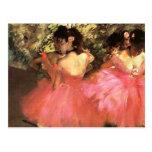 Degas Dancers in Pink Postcard