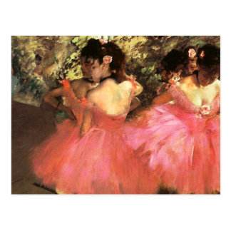 Degas Dancers in Pink Postcard