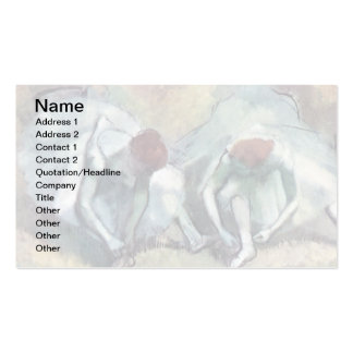 Degas - Dancers Tying Shoes Pack Of Standard Business Cards