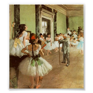 Degas Dancing Class Print