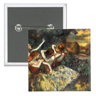 Degas Four Dancers Button