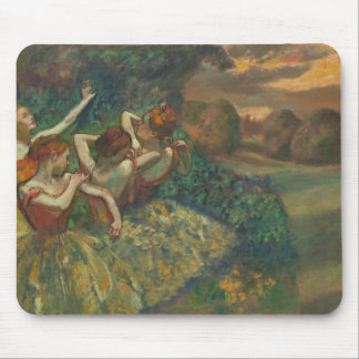 Degas' Four Dancers Masterpiece Gallery Painting Mouse Mat