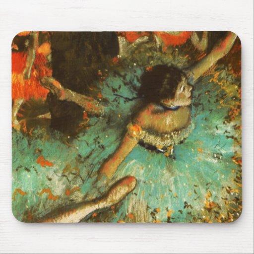 Degas Green Dancer Ballet Impressionist Mouse Pad