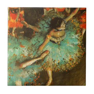 Degas Green Dancer Ballet Impressionist Small Square Tile